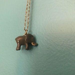 J Crew elephant necklace